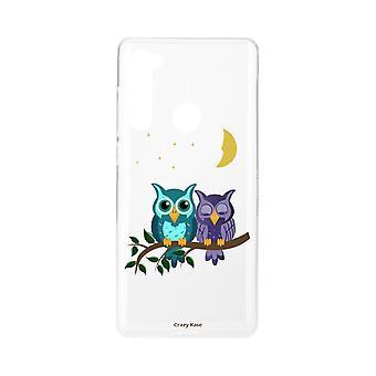 Rumpf für Xiaomi Redmi Note 8 weiche Eulen im Mondlicht
