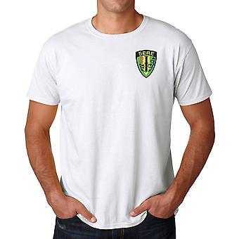 Escape e E.U. militar sobrevivência SERE evasão resistência bordado logotipo - camisa de algodão Ringspun T