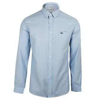 Lacoste męska'niebieska koszula z długim rękawem