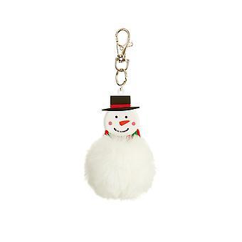 Snowman Pom Pom Keyring Cracker Filler Gift