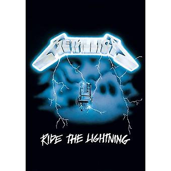 Metallica affisch rida blixten albumet officiella nya textil flagga 70cm x 106cm