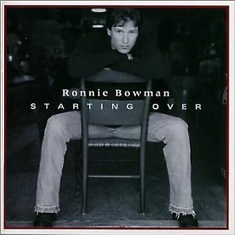 Ronnie Bowman - Starting Over [CD] USA import