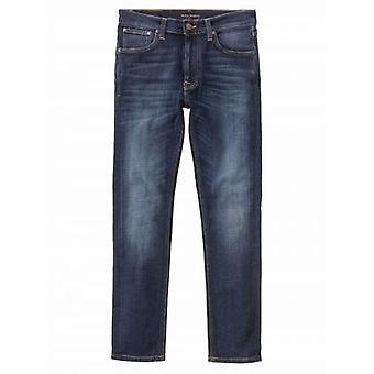 Nudie Jeans Lean Dean Dark Deep Worn Jean