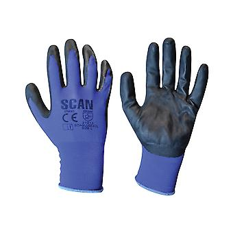 Scan Max. Dexterity Nitrile Gloves - Large (Size 9)