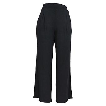 AnyBody Women's Pants Cozy Knit Wide-Leg Black A347172