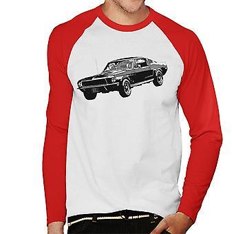 Motorsport Billeder Steve McQueen Ford Mustang Mænd's Baseball langærmet T-shirt
