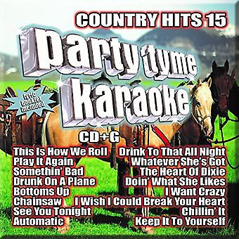 Party Tyme Karaoke: Country Hits 15/Various - Party Tyme Karaoke: Country Hits 15/Various [CD] USA import