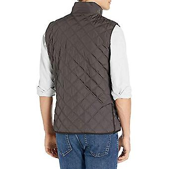 Brand - Buttoned Down Men's Water Repellant Quilted Vest, Brown M
