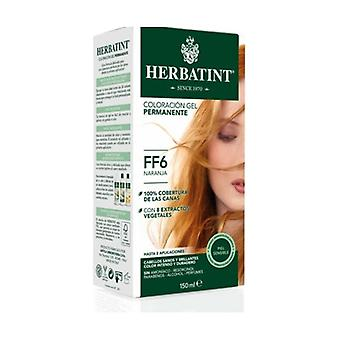 Permanent Hair Dye Gel FF6 Orange 150 ml
