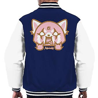 Aggretsuko Retsuko Pink Rage Men's Chaqueta Varsity