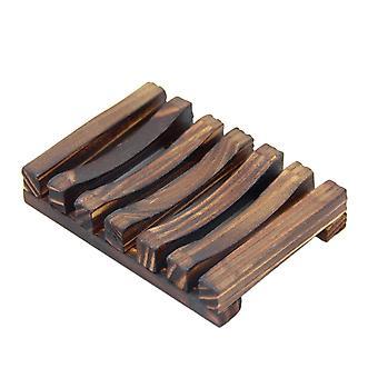Természetes fa mosószer edények (szenesített szín)