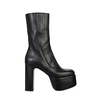Rick Owens Rp20f2845lca999 Women's Black Leather Ankle Boots