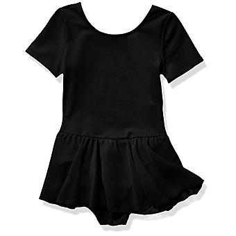 Essentials Girl's Short-Sleeve Leotard Dress, Black, 2T
