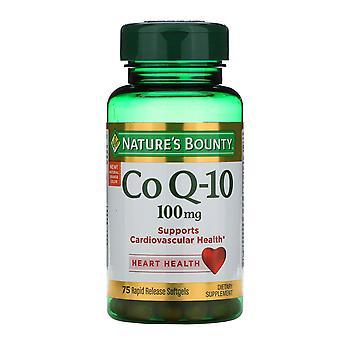 Nature's Bounty, Co Q-10, 100 mg, 75 Rapid Release Softgels