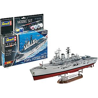 Revell RV65172 Set 1:700-HMS Invincible (Falklands War) Modello di plastica