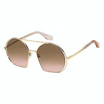 Sunglasses women for with round gold/pink gradient