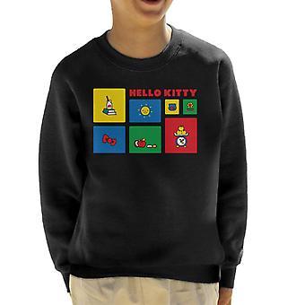 Hello Kitty Character Symbols Kid's Sweatshirt