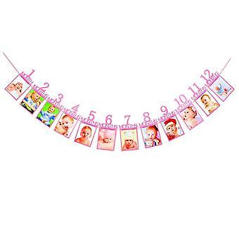 1-12 Months Baby Photo Folder Kids Birthday