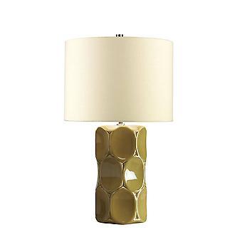 1 Lampa stołowa świeci na zielono, E27