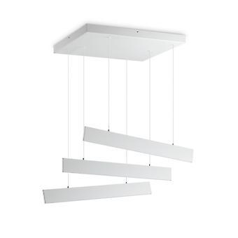 Ideal Lux DESK - Integrierte LED Lineare Deckenleuchte 3 Leuchten Weiß 3000K