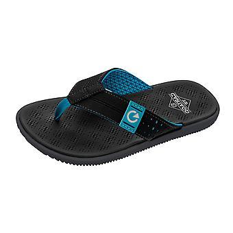 Cartago Barcelona Thong Mens Beach Flip Flops / Sandals - Black