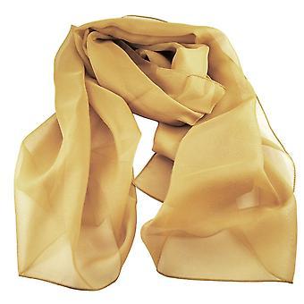 Krawatten Planet Plain Senf gelb Chiffon Schal