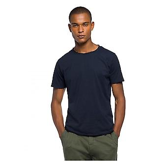 Replay Jeans Replay Crew Neck Tee Shirt Navy Blue