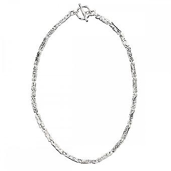 Beginnings Sterling Silver N3976 Hammered T Bar Necklace