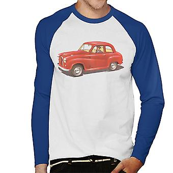 Austin A35 Red British Motor Heritage Men's Baseball Long Sleeved T-Shirt