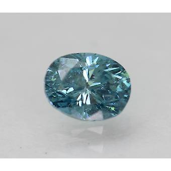 Cert 0.33 Karat Vivid Blau VS2 Oval Enhanced natürliche lose Diamant 4.82x3.78mm