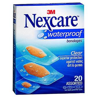 Nexcare Waterproof Clear Bandages, Tailles assorties 20 chacun