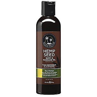 Earthly Body Massage & Body Oil, Nag Champa 8 oz