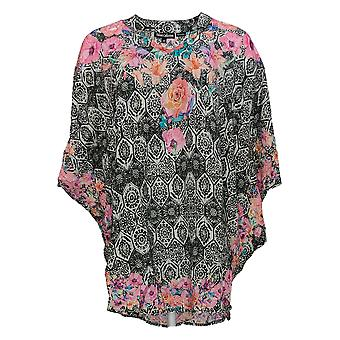 Tolani Femmes's Top Relaxed Fit Floral Print Caftan Rose A307942