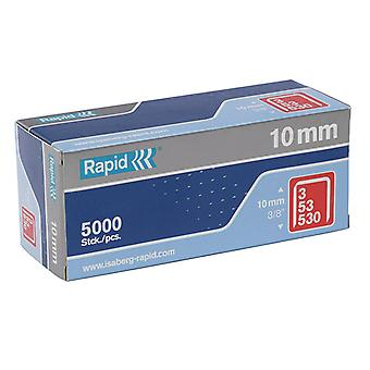 Rapid 53/10B 10mm Caixa de grampos galvanizados 5000 RPD5310B5000