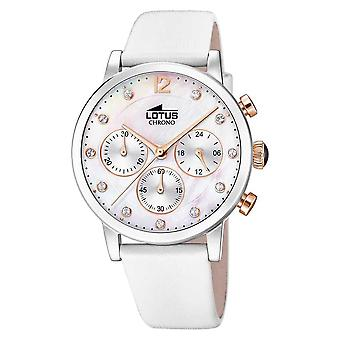 Lotus Women's White Leather Strap | Mother Of Pearl Dial L18674/1 Watch