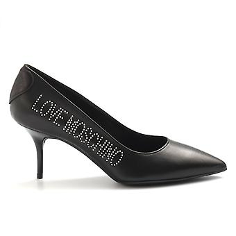 Decolletè Love Moschino Nera Con Borchie