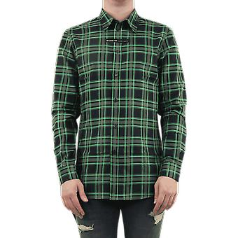 Givenchy  day cotton check bond Green bm60g41y71310 Top
