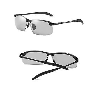 Polarizing sunglasses with color-changing glass UV400 - black