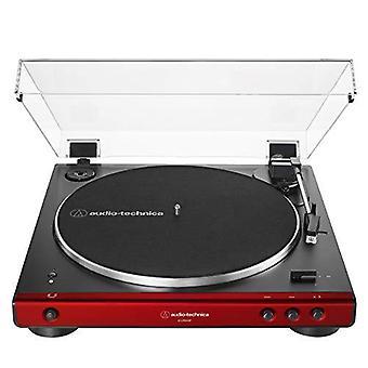 Audio-technica at-lp60xbt-rd täysin automaattinen hihnavetoinen stereolevysoitin, punainen/musta