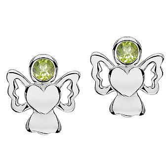 Jo For Girls Sterling Silver August Simulated Birthstone Angel Stud Earrings