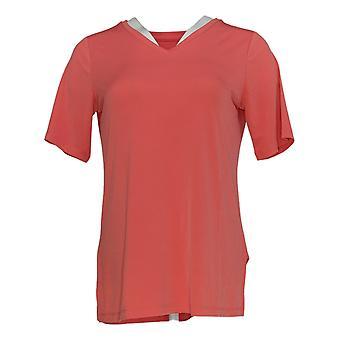 Susan Graver Women's Top Modern Essentials Liquid Knit V-Neck Pink A376574