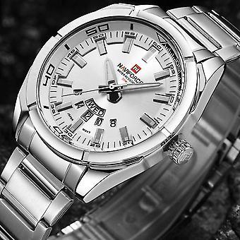 NAVIFORCE 9038 Waterproof Calendar Men Wrist Watch Full Steel Clock Quartz
