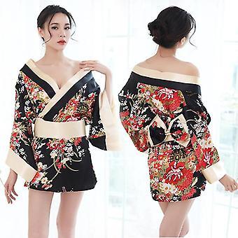 Sexy Kimono Nightgown Yukata Pro ženy Sleepwear Volný čas Nosit pyžamové šaty
