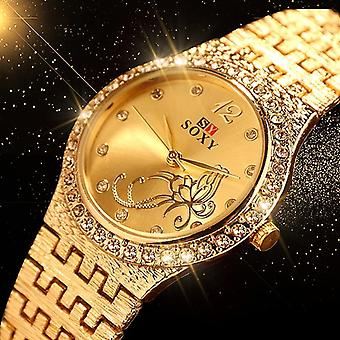 New Bracelet Watches, Fashion  Rhinestone Flower Butterfly Exquisite Casual