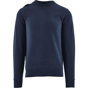 MA.STRUM Navy Core Crew Sweatshirt