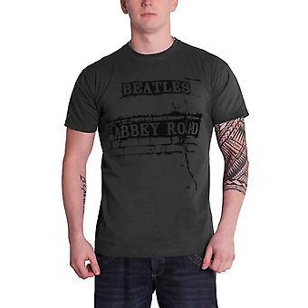 The Beatles T Shirt Abbey Road Brick Road Sign band logo Official Mens Grey