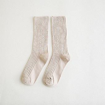 Χαριτωμένο βαμβάκι χαλαρά ριγέ πλήρωμα μόδας πολύχρωμο σχεδιαστής ρετρό μακριές κάλτσες