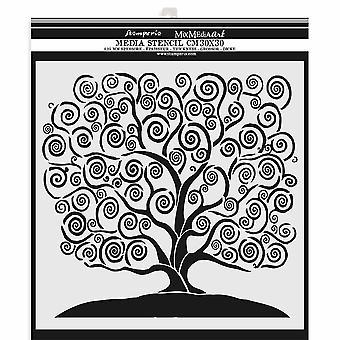 Stamperia Dicke Schablone 30x30cm Baum des Lebens