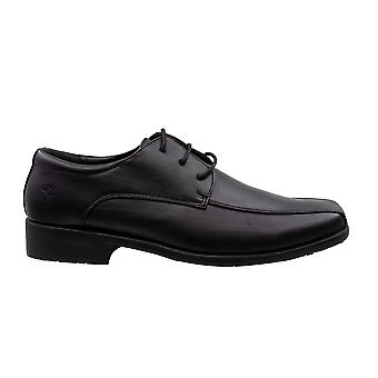Farah classic hombres cuero negro smart encaje zapatos FAC0006 001