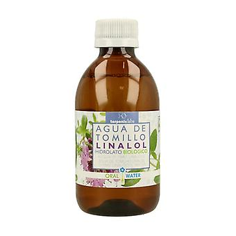 Thyme Water Linalool Hydrolate Bio 250 ml of floral water
